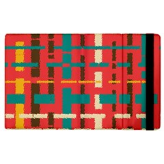 Colorful Line Segments Apple Ipad 3/4 Flip Case by linceazul