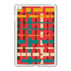 Colorful Line Segments Apple Ipad Mini Case (white) by linceazul