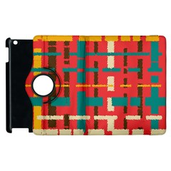 Colorful Line Segments Apple Ipad 3/4 Flip 360 Case by linceazul