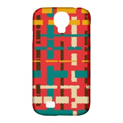 Colorful Line Segments Samsung Galaxy S4 Classic Hardshell Case (pc+silicone) by linceazul