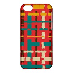 Colorful Line Segments Apple Iphone 5c Hardshell Case by linceazul