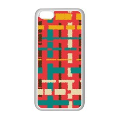 Colorful Line Segments Apple Iphone 5c Seamless Case (white) by linceazul