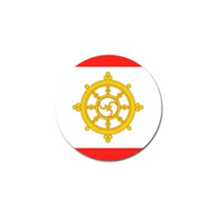 Flag Of Sikkim, 1967-1975 Golf Ball Marker (10 Pack) by abbeyz71