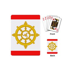 Flag Of Sikkim, 1967 1975 Playing Cards (mini)  by abbeyz71