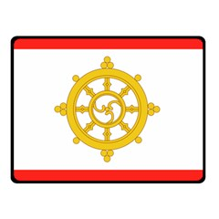 Flag Of Sikkim, 1967 1975 Double Sided Fleece Blanket (small)  by abbeyz71