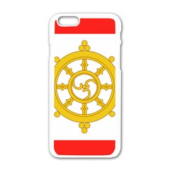 Flag Of Sikkim, 1967 1975 Apple Iphone 6/6s White Enamel Case by abbeyz71