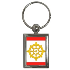 Flag Of Sikkim, 1967 1975 Key Chains (rectangle)  by abbeyz71