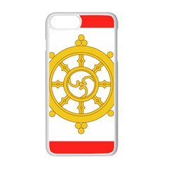 Flag Of Sikkim, 1967 1975 Apple Iphone 7 Plus White Seamless Case by abbeyz71