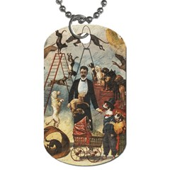 Dog Circus Dog Tag (one Side) by Valentinaart