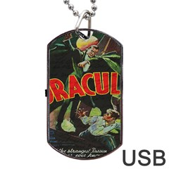 Dracula Dog Tag Usb Flash (two Sides) by Valentinaart