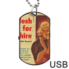 Vintage Girl Dog Tag Usb Flash (two Sides) by Valentinaart