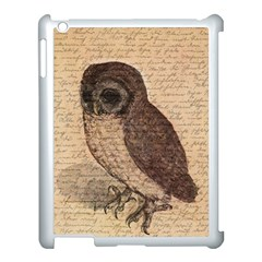 Vintage Owl Apple Ipad 3/4 Case (white) by Valentinaart