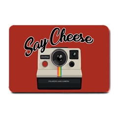 Say Cheese Small Doormat  by Valentinaart