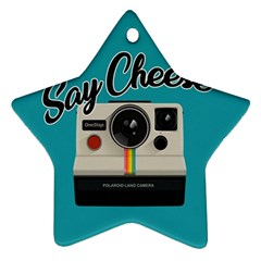 Say Cheese Star Ornament (two Sides) by Valentinaart