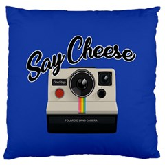 Say Cheese Large Flano Cushion Case (one Side)