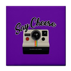 Say Cheese Tile Coasters