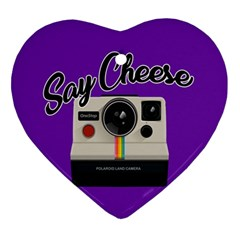 Say Cheese Ornament (Heart)