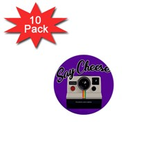Say Cheese 1  Mini Buttons (10 pack)