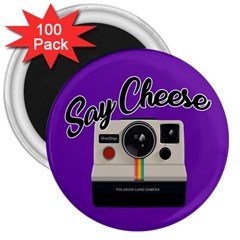 Say Cheese 3  Magnets (100 pack)