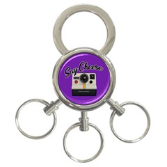 Say Cheese 3-Ring Key Chains