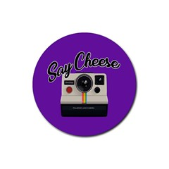Say Cheese Rubber Round Coaster (4 pack)