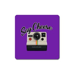 Say Cheese Square Magnet