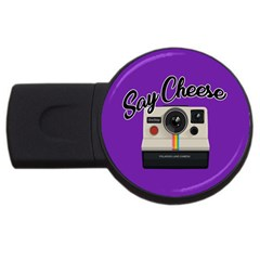 Say Cheese USB Flash Drive Round (2 GB)