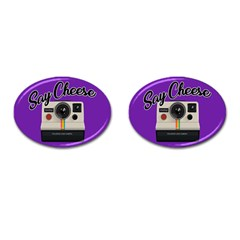 Say Cheese Cufflinks (Oval)