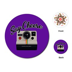 Say Cheese Playing Cards (Round)