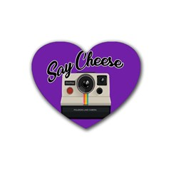 Say Cheese Rubber Coaster (Heart)