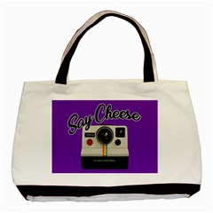 Say Cheese Basic Tote Bag (Two Sides)