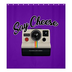 Say Cheese Shower Curtain 66  x 72  (Large)