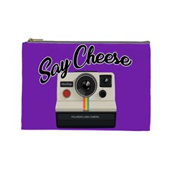 Say Cheese Cosmetic Bag (Large)