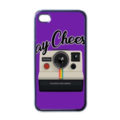 Say Cheese Apple iPhone 4 Case (Black)