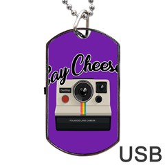 Say Cheese Dog Tag USB Flash (One Side)
