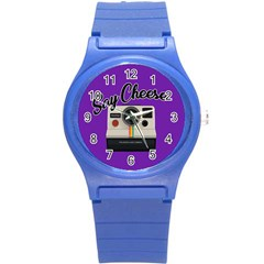 Say Cheese Round Plastic Sport Watch (S)