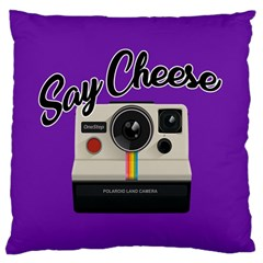Say Cheese Large Cushion Case (One Side)