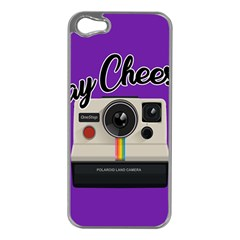 Say Cheese Apple iPhone 5 Case (Silver)