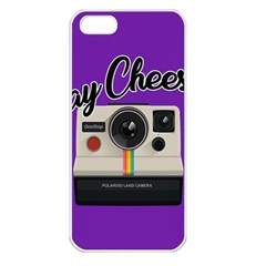 Say Cheese Apple Iphone 5 Seamless Case (white) by Valentinaart