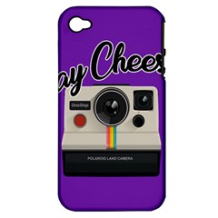 Say Cheese Apple iPhone 4/4S Hardshell Case (PC+Silicone)