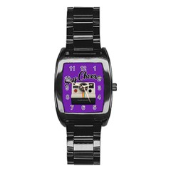Say Cheese Stainless Steel Barrel Watch