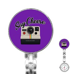 Say Cheese Stainless Steel Nurses Watch