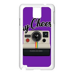 Say Cheese Samsung Galaxy Note 3 N9005 Case (White)