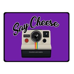 Say Cheese Double Sided Fleece Blanket (Small)