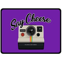 Say Cheese Double Sided Fleece Blanket (Large)