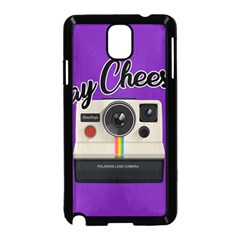 Say Cheese Samsung Galaxy Note 3 Neo Hardshell Case (Black)
