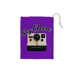 Say Cheese Drawstring Pouches (Small)