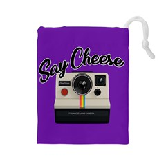 Say Cheese Drawstring Pouches (Large)