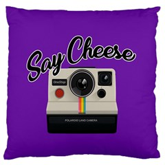 Say Cheese Large Flano Cushion Case (Two Sides)