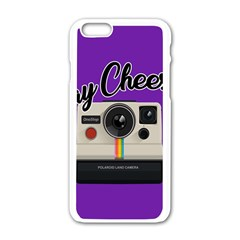 Say Cheese Apple iPhone 6/6S White Enamel Case